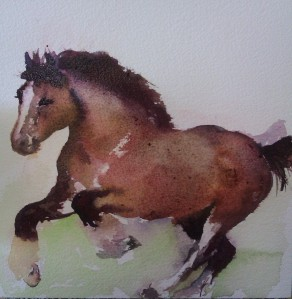 Heavy horse Watercolour