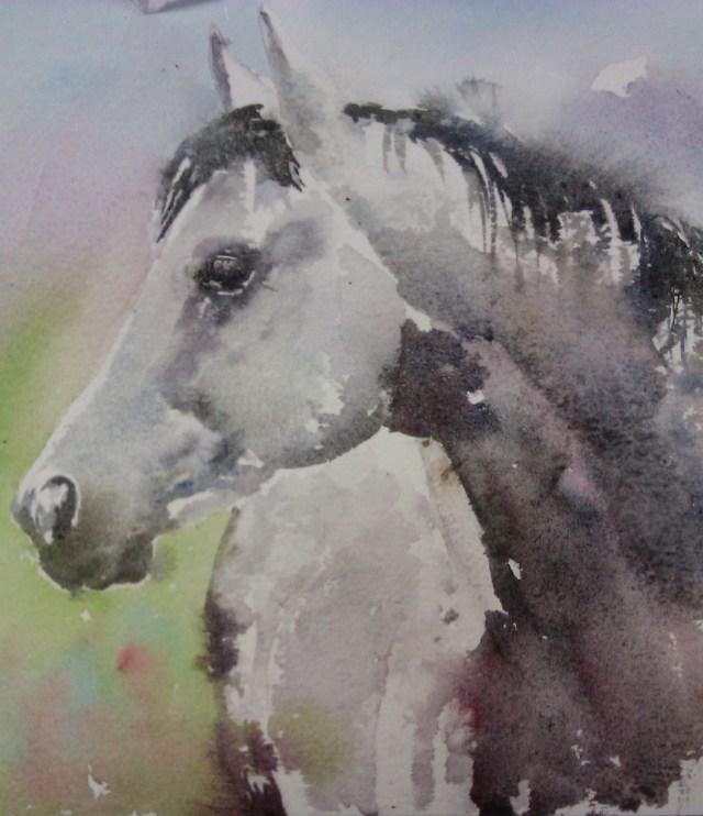 Grey watercolour